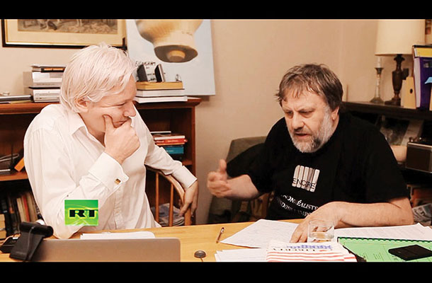 Julian Assange in Slavoj Žižek