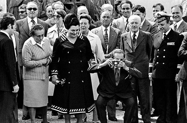 Begunje: Josip Broz Tito z ženo Jovanko med obiskom Slovenije
