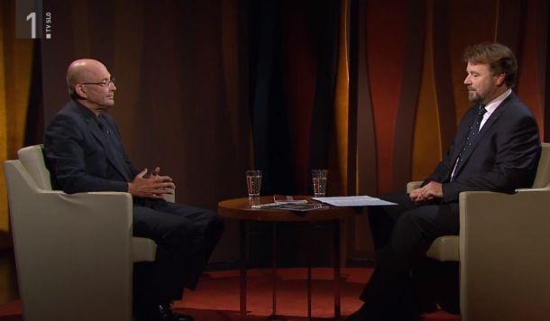 Jože Dežman in Jože Možina v oddaji Intervju