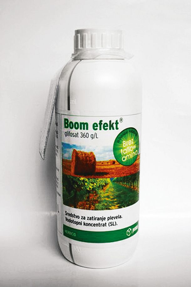 V Račah proizvajajo tudi herbicid »Boom efekt«, katerega aktivna učinkovina je glifosat