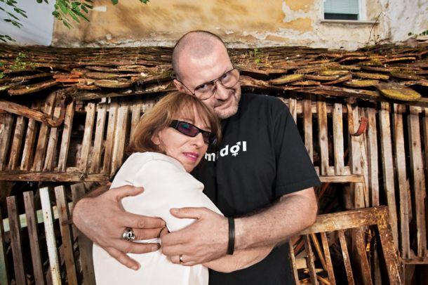 Svetlana Makarovič in Max Modic po intervjuju leta 2011