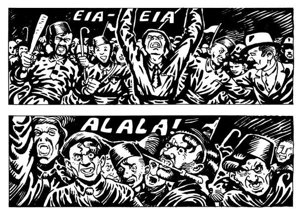 Začetek stripa Črni plamen