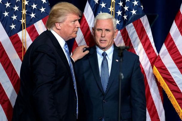 Donald Trump in Mike Pence