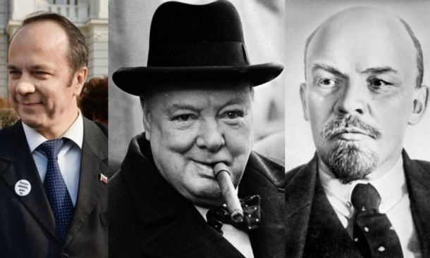 Grims, Churchill, Lenin
