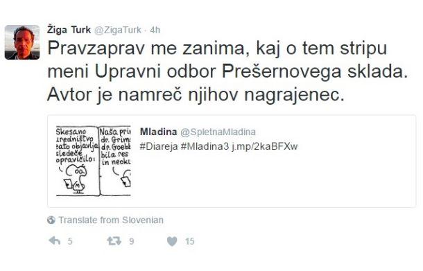 Zaradi Diareje se je oglasil tudi Žiga Turk, nekdanji superminister Janeza Janše