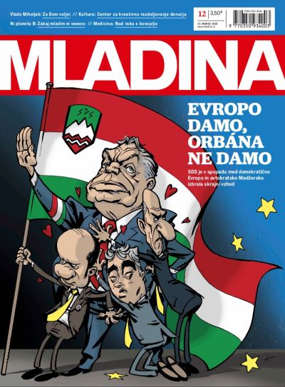 The cover of Mladina magazine which offended the Hungarian government