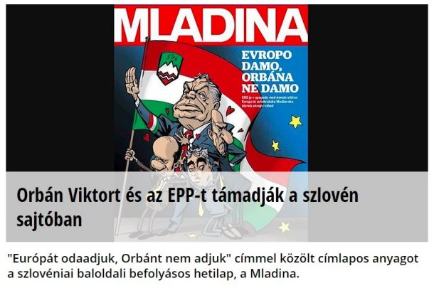 Naslovnica madžarskega portala Napi.hu